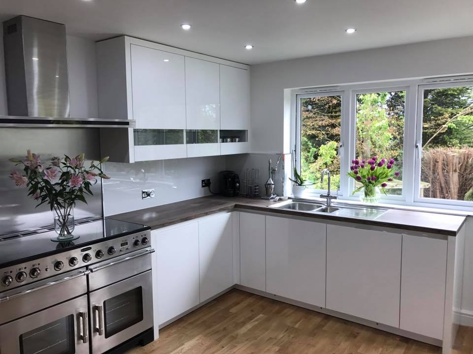 Halifax Kitchen Design; Hob, extractor and window